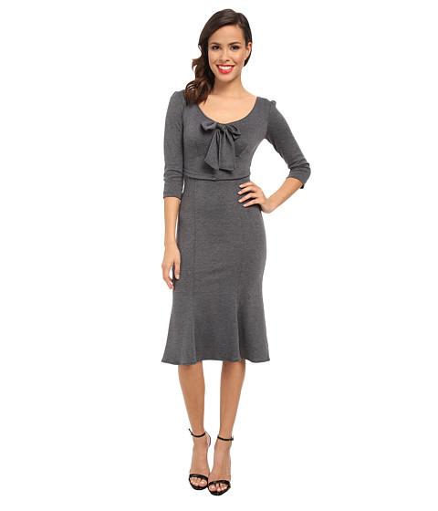 Stop Staring! - Knit Long Sleeve Dress (Grey) Women