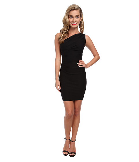 Stop Staring! - One Shoulder Short Dress (Black) Women's Dress