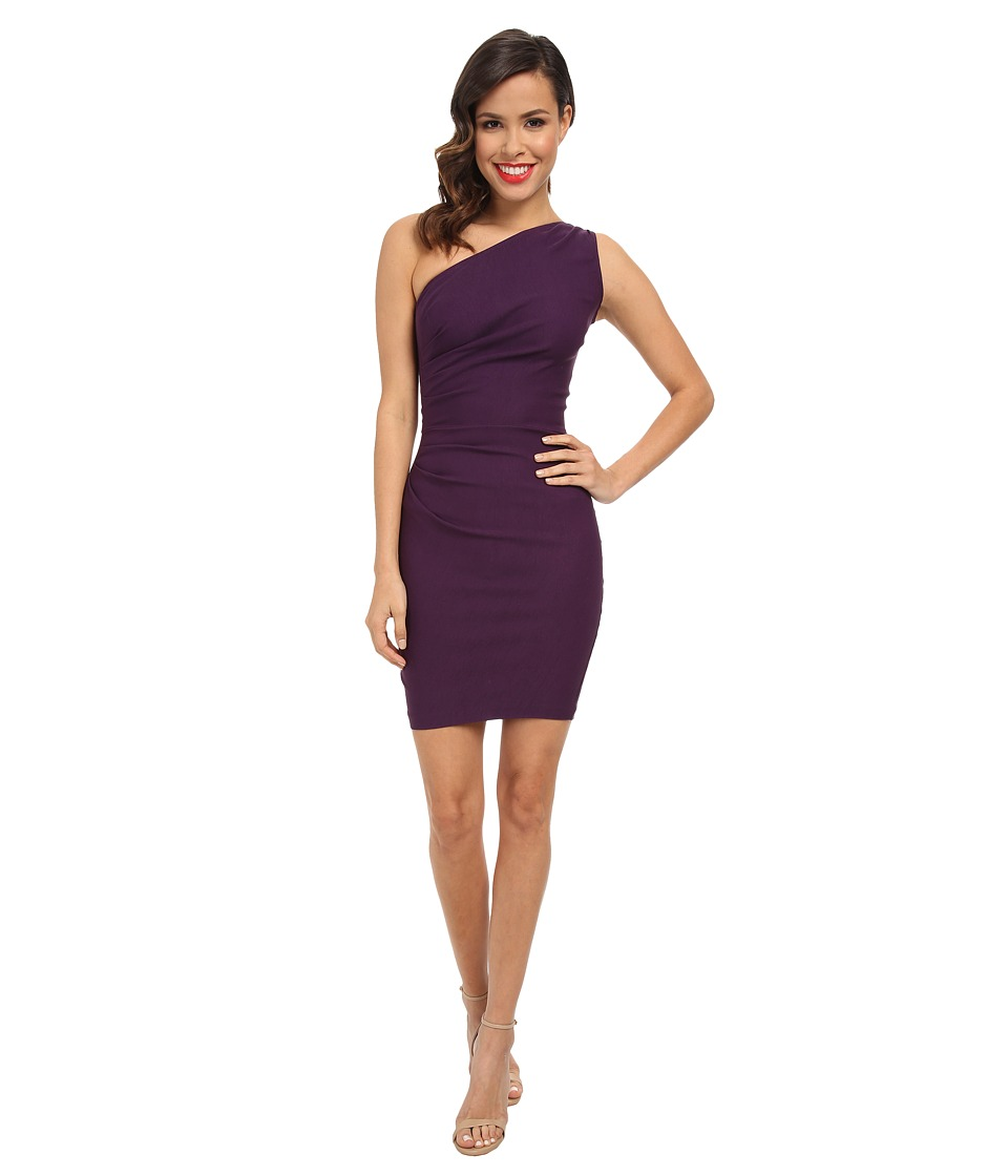 Stop Staring! - One Shoulder Short Dress (Eggplant) Women's Dress