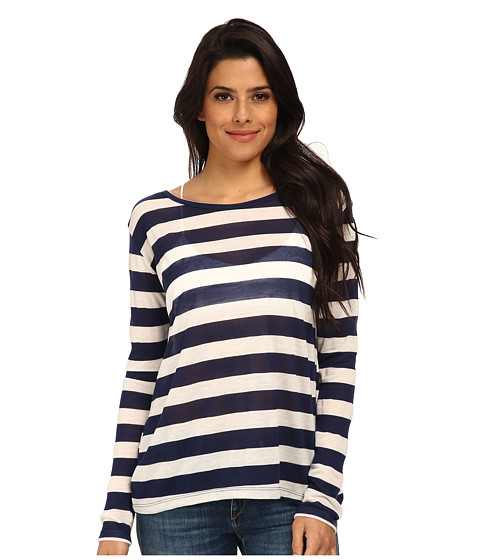 LNA - Sailing Tee (White/Navy) Women