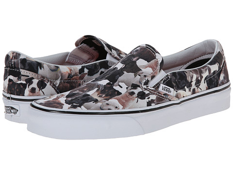 Vans - Classic Slip-On X ASPCA ((ASPCA) Puppies/True White) Skate Shoes