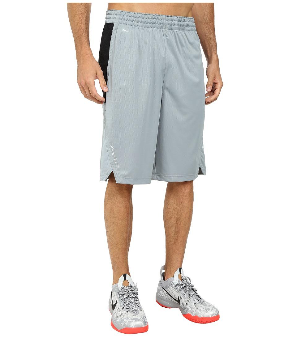 Nike - Hyperelite Power Short (Dove Grey/Black/Black/Metallic Silver) Men's Shorts