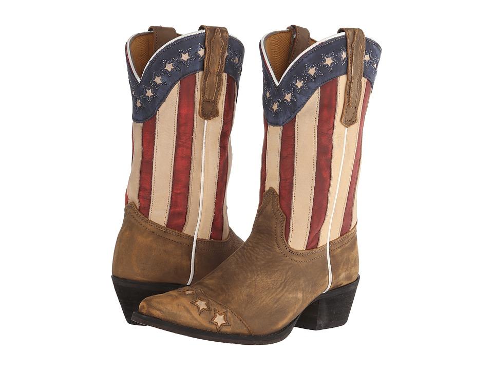 Dan Post Kids - Lil' Liberty (Big Kid) (You Tan Stars & Stripes) Cowboy Boots