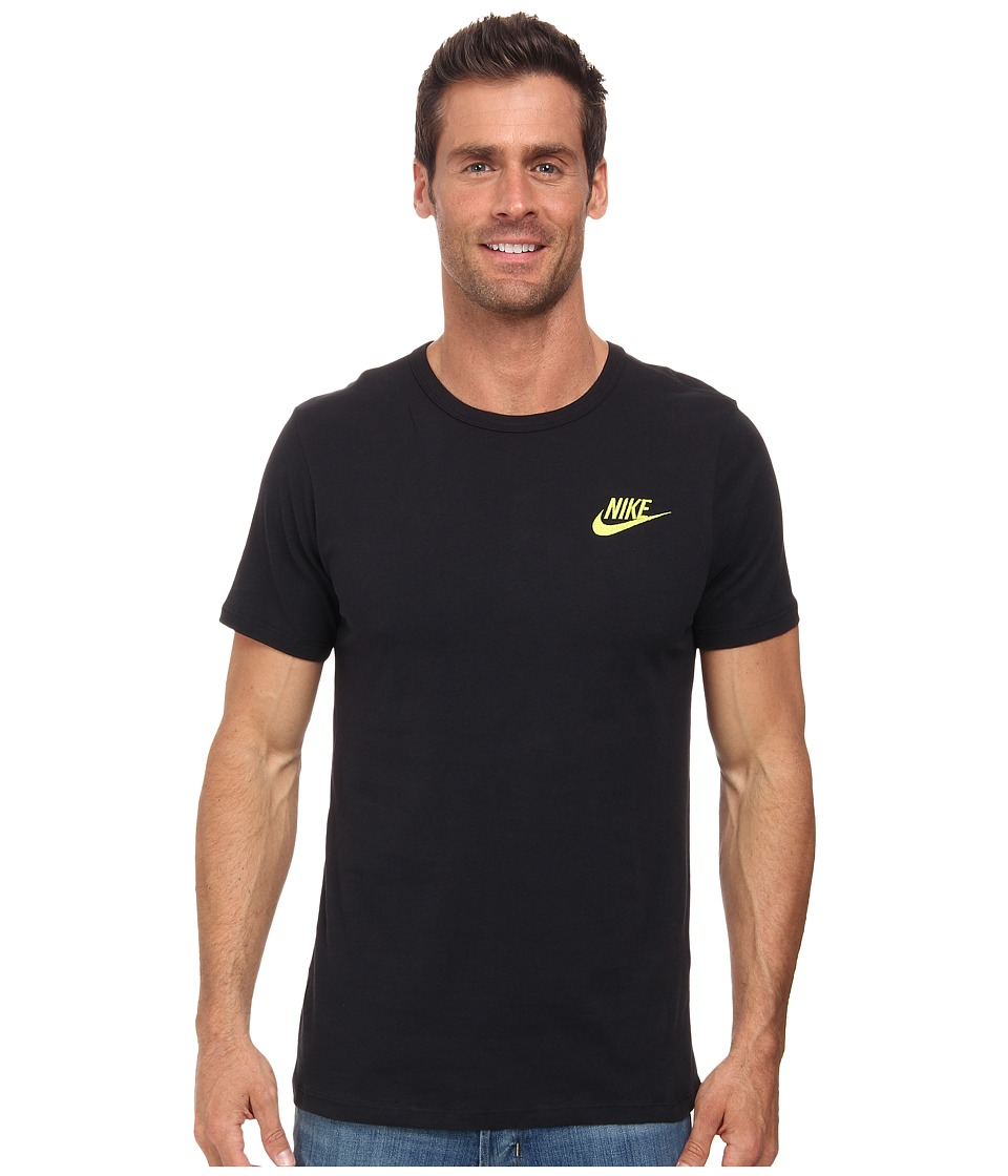 Nike - Embroided Futura Tee (Black/Volt) Men