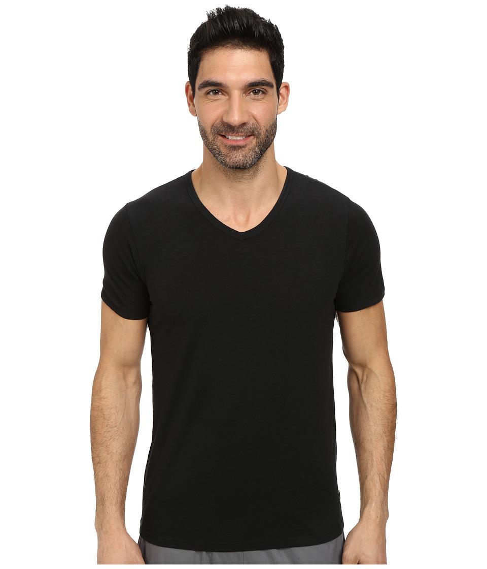Nike - Solid Futura V-Neck Tee (Black/Black) Men's T Shirt