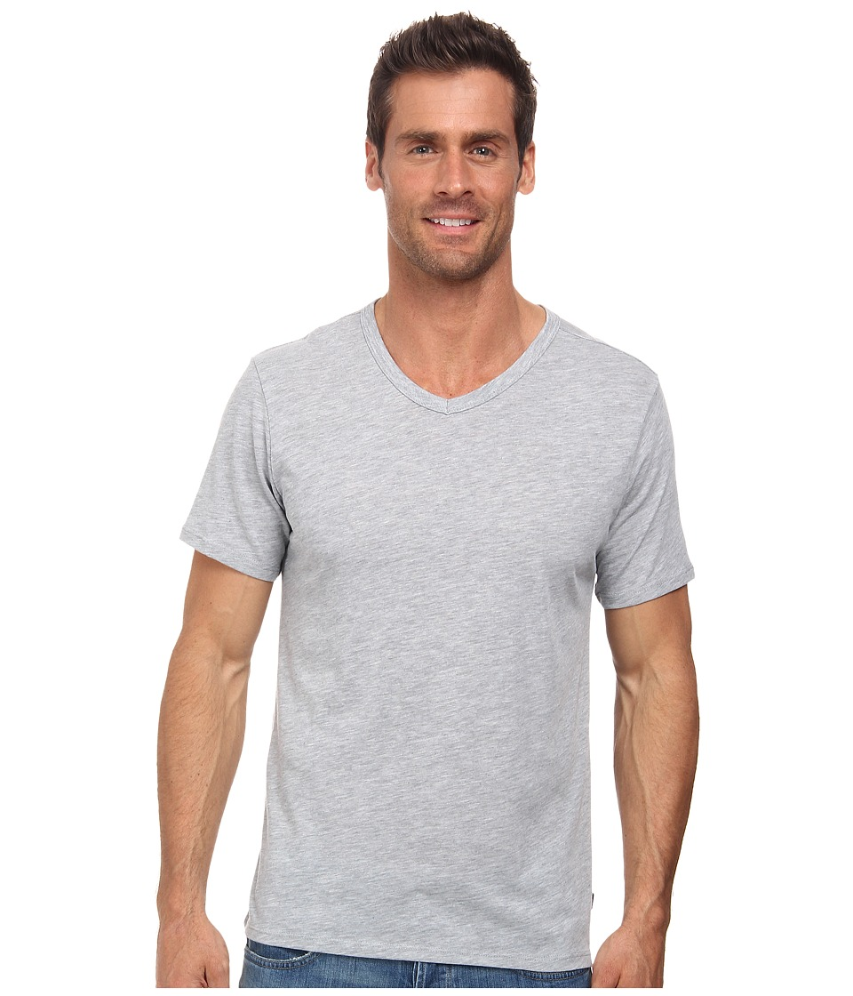 Nike - Solid Futura V-Neck Tee (Dark Grey Heather/Black) Men's T Shirt