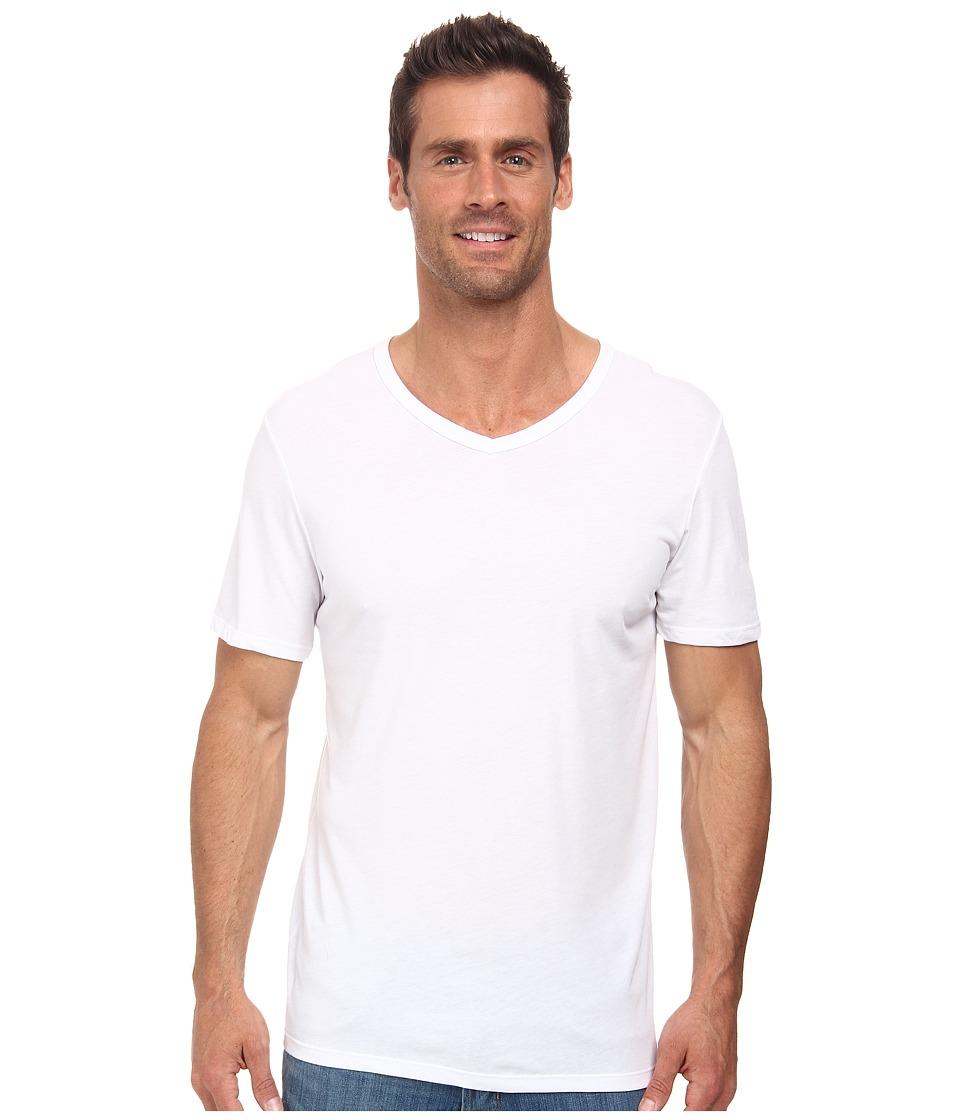 Nike - Solid Futura V-Neck Tee (White/Black) Men's T Shirt