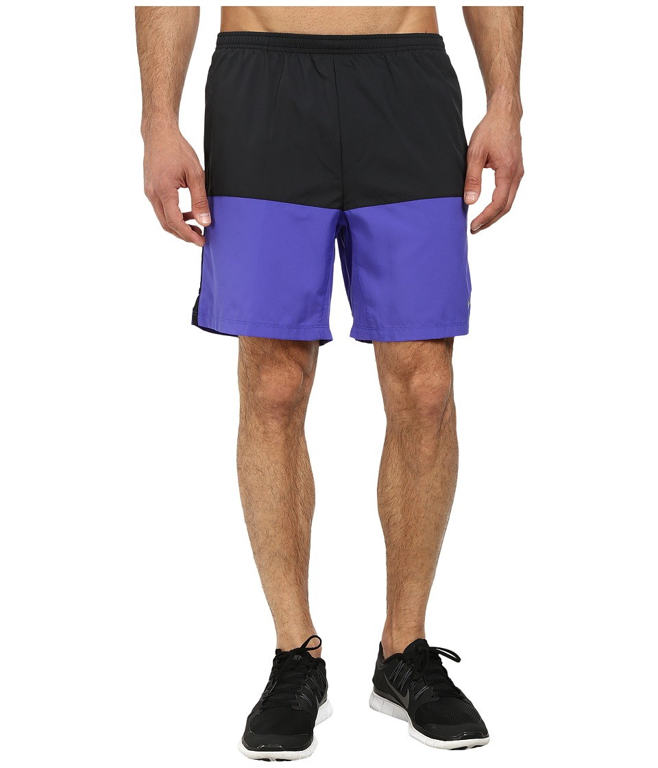 Nike - 7 Distance Short (Black/Persian Violet/Reflective Silver) Men