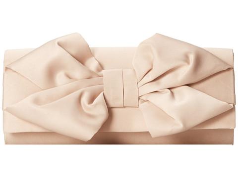 Jessica McClintock - Oversized Bow Clutch (Champagne) Clutch Handbags