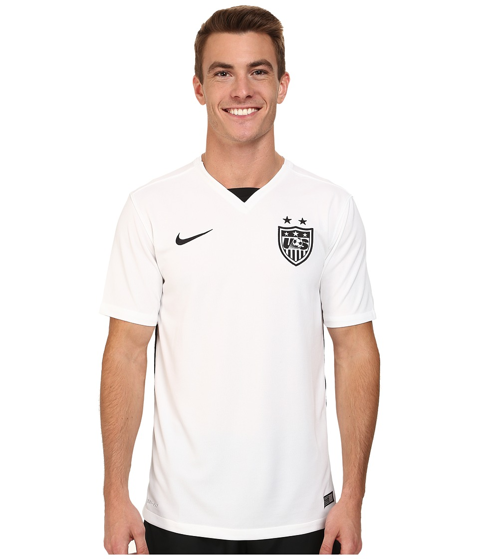 Nike - USA S/S Home Stadium Jersey (Football White/Black/Black) Men's Short Sleeve Pullover