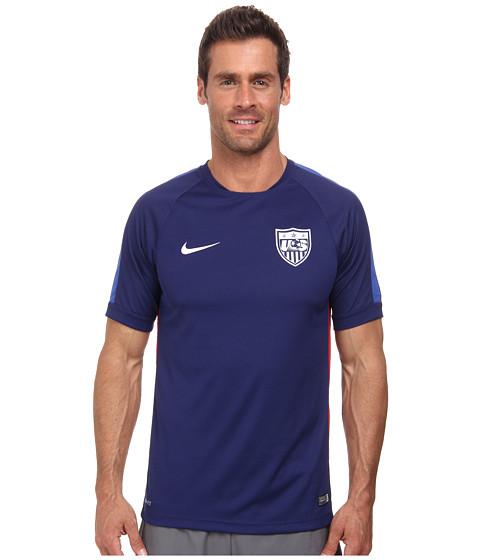 Nike - USA Squad S/S Training Top (Loyal Blue/Game Royal/White) Men's Short Sleeve Pullover