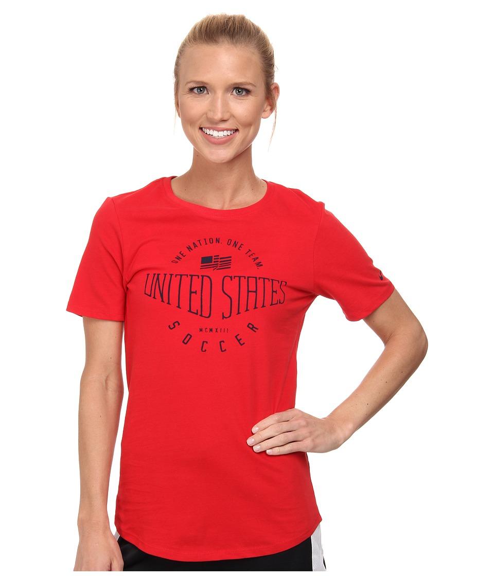 Nike - USA Core Plus Tee (University Red/University Red) Women