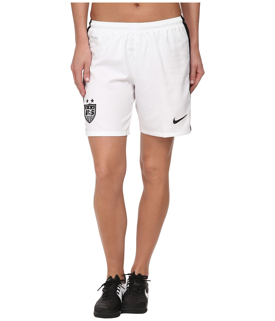 Nike - USA Home/Away Stadium Short (Football White/Black/Black) Women