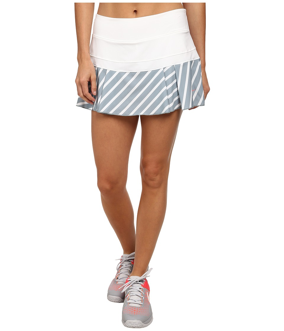 Nike - Victory Printed Skirt (White/Dove Grey/Hot Lava) Women