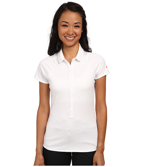 Nike - Advantage Polo (White/Hot Lava) Women's Short Sleeve Pullover