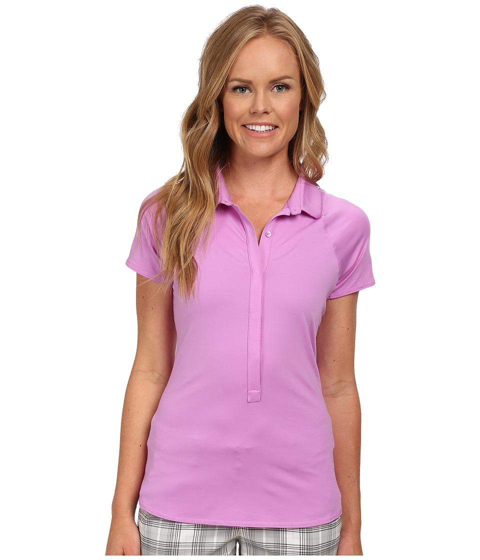 Nike - Advantage Polo (Fuchsia Glow/Hot Lava) Women's Short Sleeve Pullover