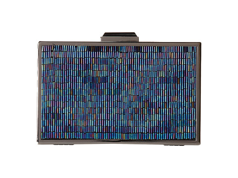 Jessica McClintock - Beaded Hardcase (Aquamarine) Clutch Handbags