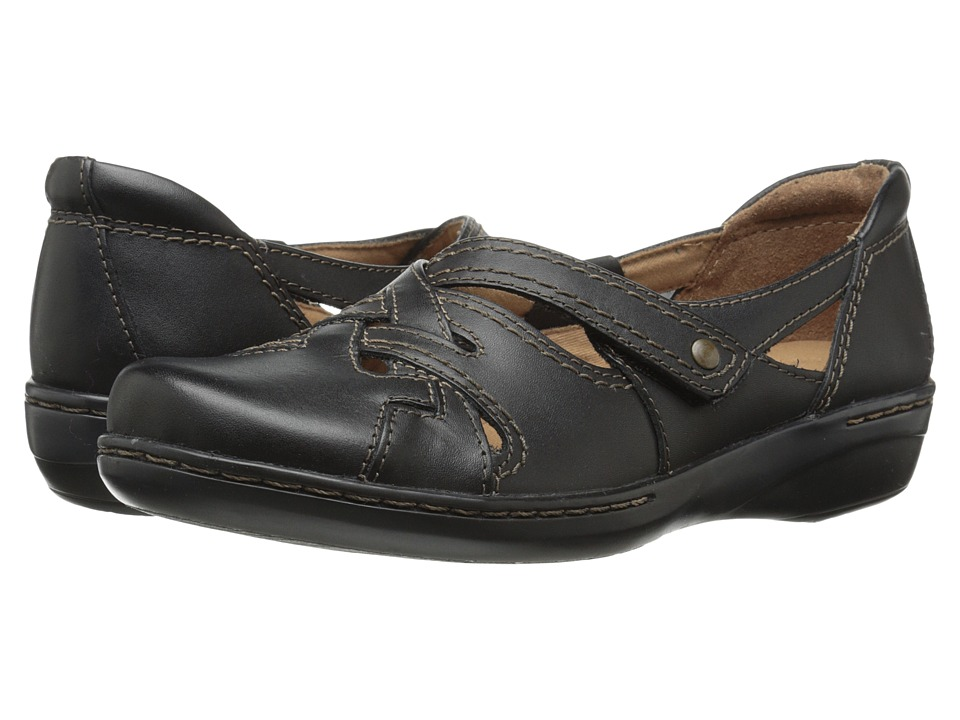 Clarks - Evianna Peal (Black Leather) Women's Shoes