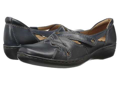 Clarks - Evianna Peal (Navy Leather) Women's Shoes