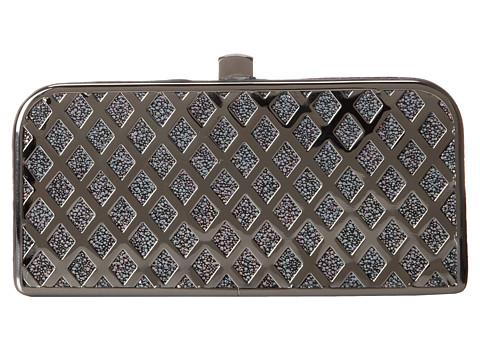 Jessica McClintock - Cage Minaudier (Gunmetal) Clutch Handbags