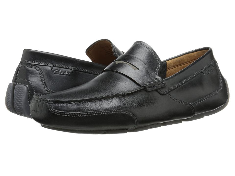Clarks Ashmont Way (Black Smooth Leather) Men