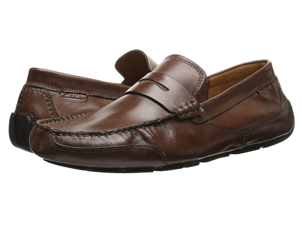 Clarks - Ashmont Way (Cognac Smooth Leather) Men