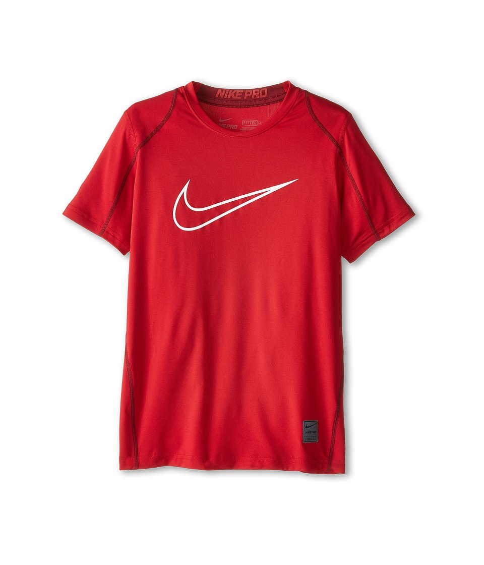Nike Kids - Cool HBR Fitted S/S Youth (Little Kids/Bigs Kids) (Gym Red/Team Red/White) Boy's T Shirt