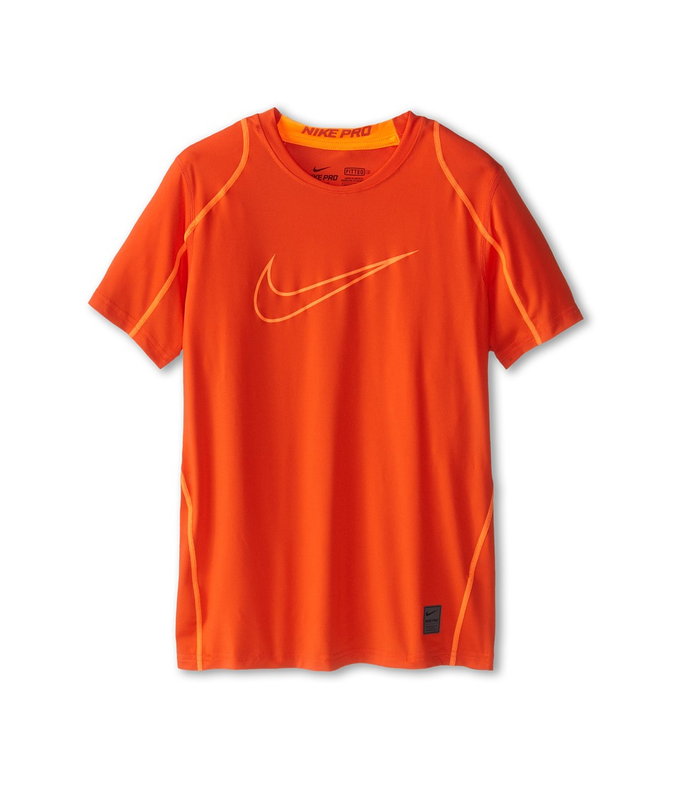 Nike Kids - Cool HBR Fitted S/S Youth (Little Kids/Bigs Kids) (Team Orange/Total Orange/Total Orange) Boy's T Shirt