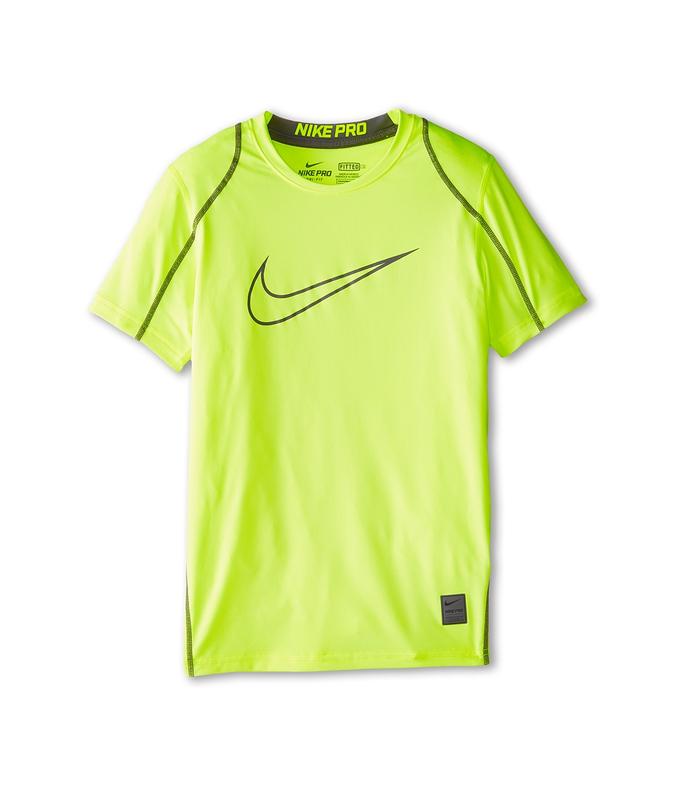Nike Kids - Cool HBR Fitted S/S Youth (Little Kids/Bigs Kids) (Volt/Dark Grey/Dark Grey) Boy's T Shirt