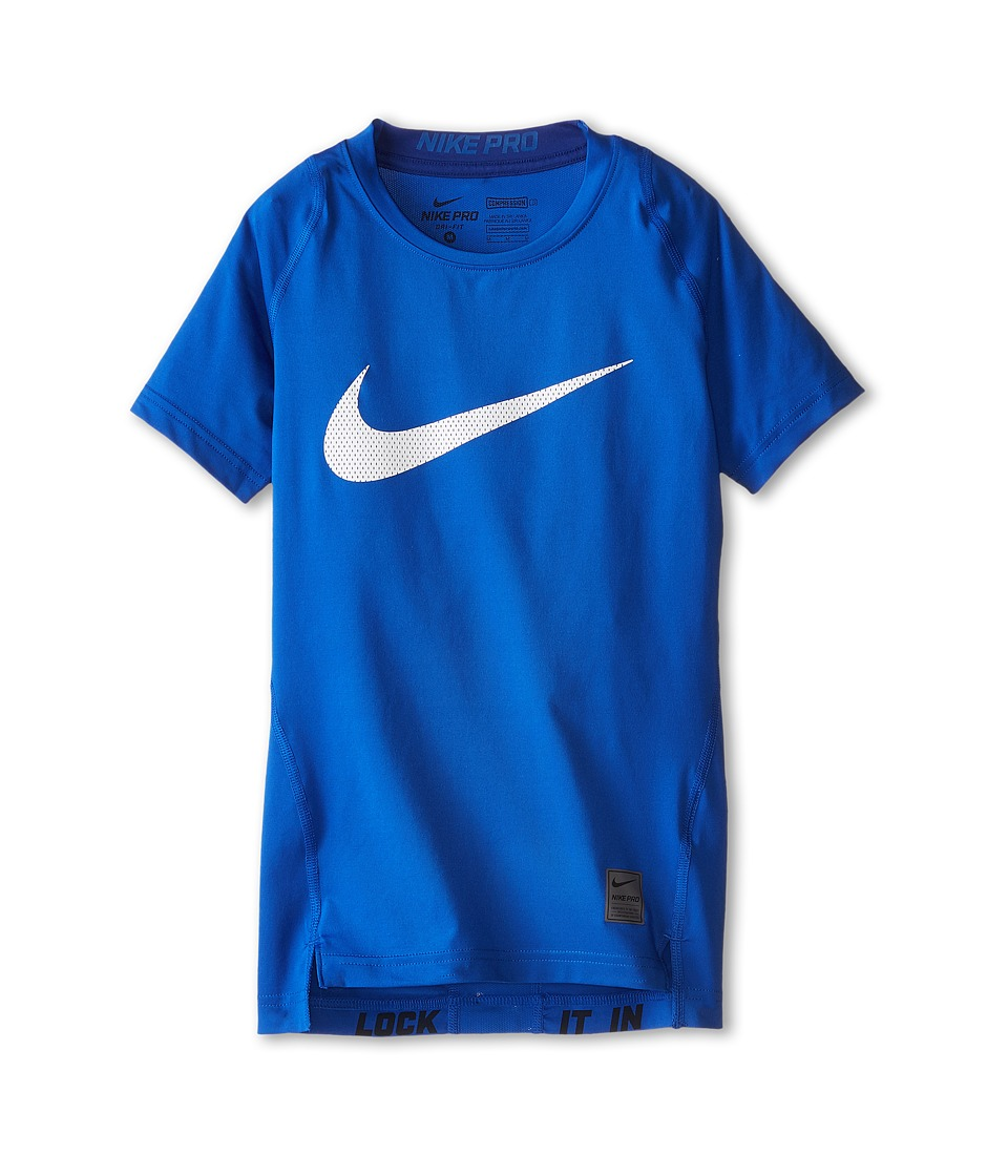 Nike Kids - Cool HBR Compression S/S Youth (Little Kids/Big Kids) (Game Royal/Deep Royal/White) Boy's T Shirt
