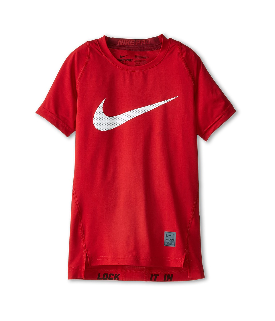 Nike Kids - Cool HBR Compression S/S Youth (Little Kids/Big Kids) (Gym Red/Team Red/White) Boy's T Shirt