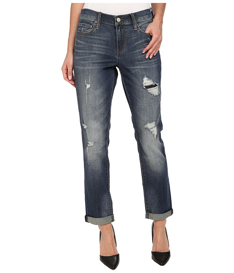DKNY Jeans - Rip and Repair Bleecker Boyfriend Jean in Catalina Wash (Catalina Wash) Women