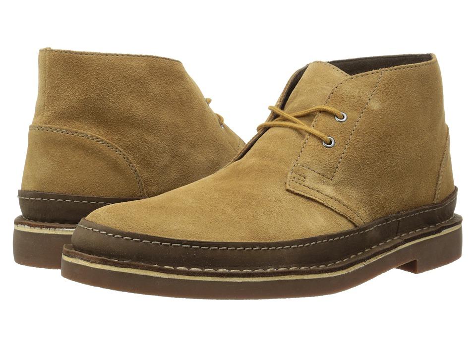 Clarks - Bushacre Rand (Cognac Suede) Men's Shoes