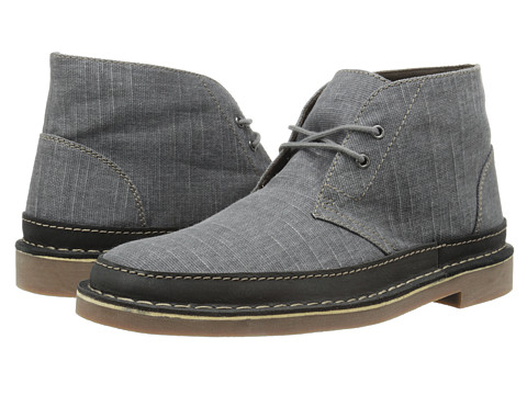 Clarks - Bushacre Rand (Grey Canvas) Men
