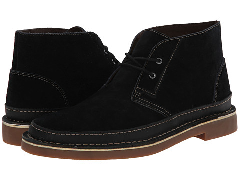 Clarks - Bushacre Rand (Black Suede) Men's Shoes