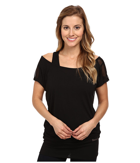 Bench - Thenagain II Sleeve Top (Jet Black) Women's T Shirt