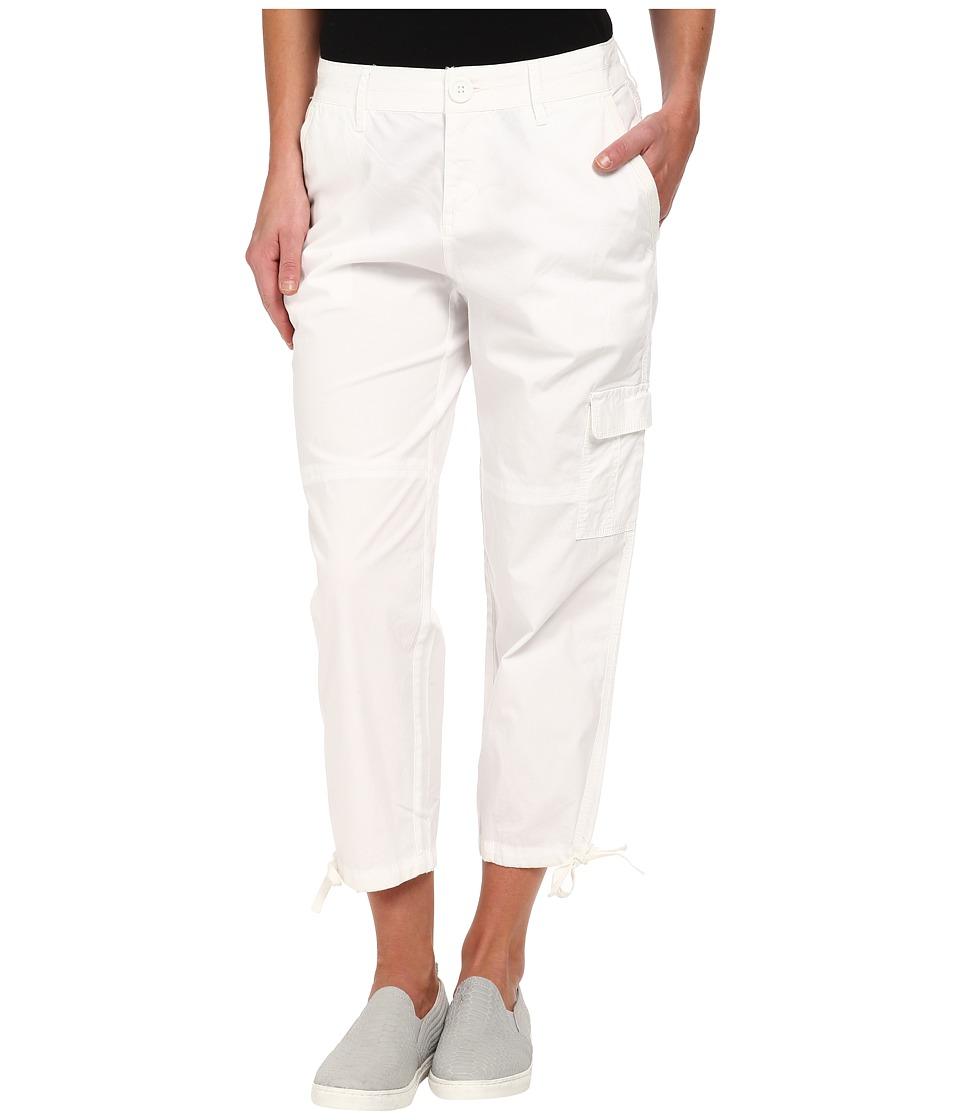 DKNY Jeans - Poplin Cargo Short (White) Women's Casual Pants