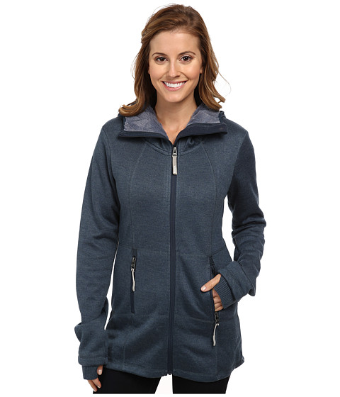Bench - Thinlined Zip Thru Hoodie (Midnight Navy Marl) Women