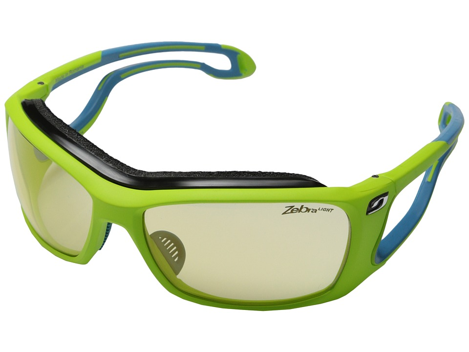 Julbo Eyewear - Pipeline Sunglasses (Lime Green with Zebra Light Lenses) Sport Sunglasses