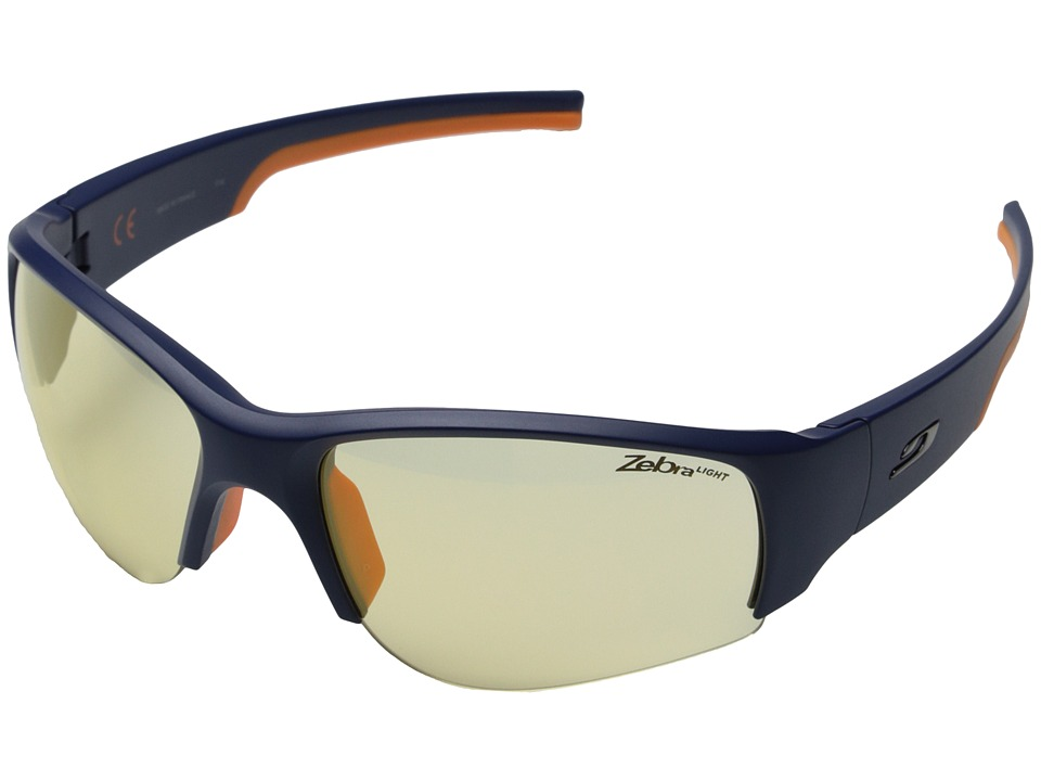 Julbo Eyewear - Dust Sunglasses (Blue/Orange with Zebra Light Hard Lenses) Sport Sunglasses