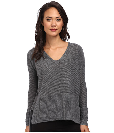 DKNY Jeans - Premium V-Neck Pullover (Grey Heather) Women