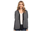 DKNY Jeans Premium Boxy Zip Hoodie (Charcoal Heather Grey)