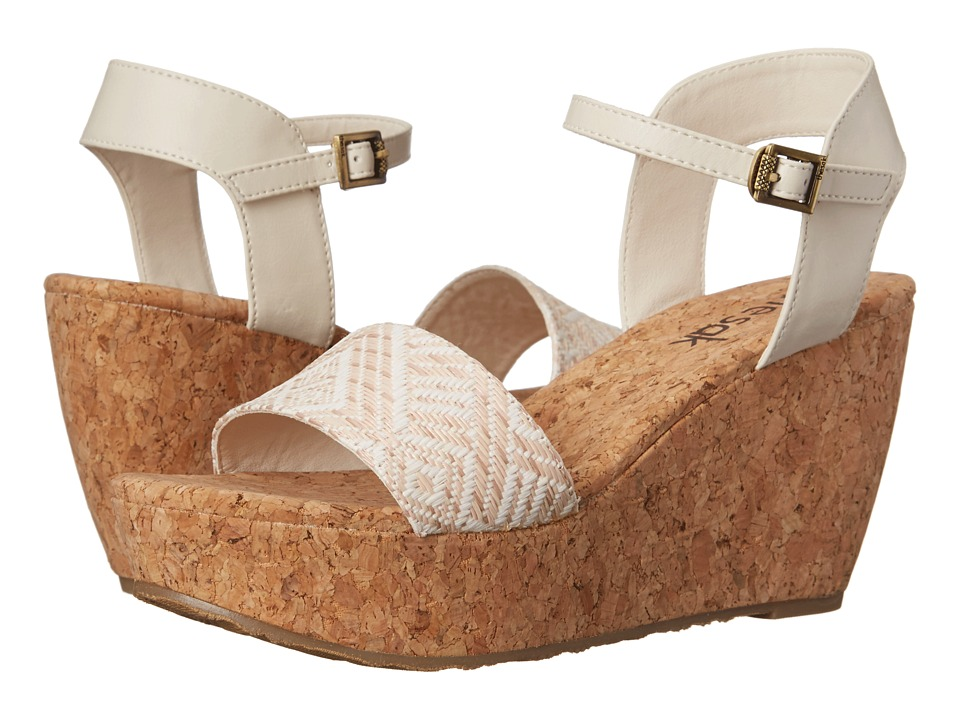 The Sak - Solo Straw (White/Natural) Women's Wedge Shoes