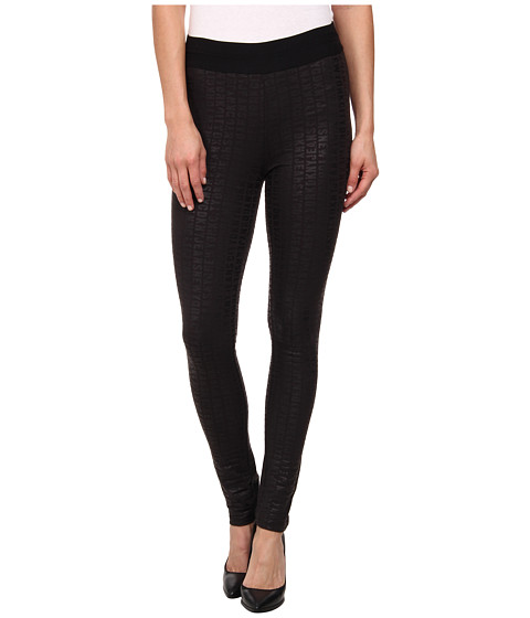 DKNY Jeans - Allover Logo Leggings (Noir) Women