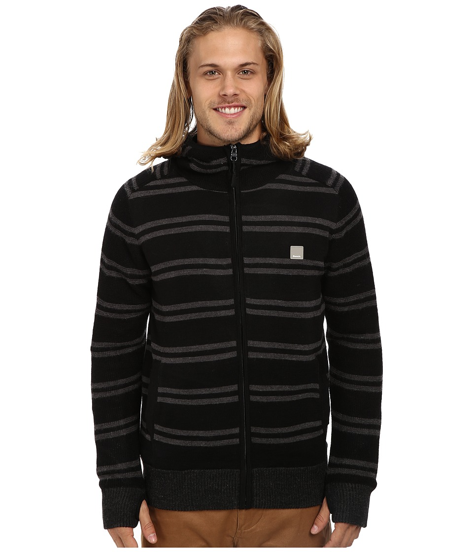 Bench - Gritte Zip Thru Hoodie (Jet Black) Men's Sweatshirt