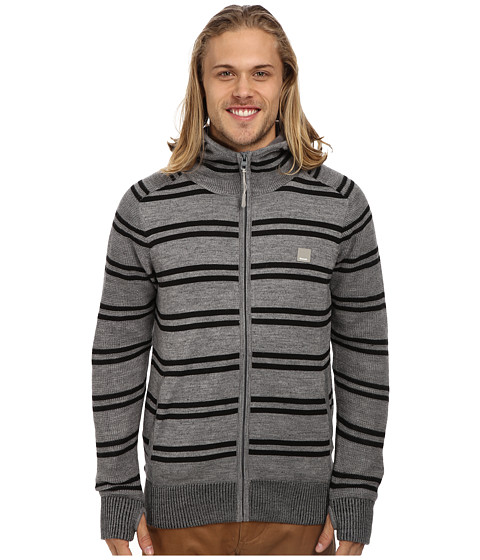 Bench - Gritte Zip Thru Hoodie (Stormcloud Marl) Men's Sweatshirt