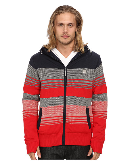 Bench - Declivity Zip Thru Hoodie (Total Eclipse) Men's Sweater