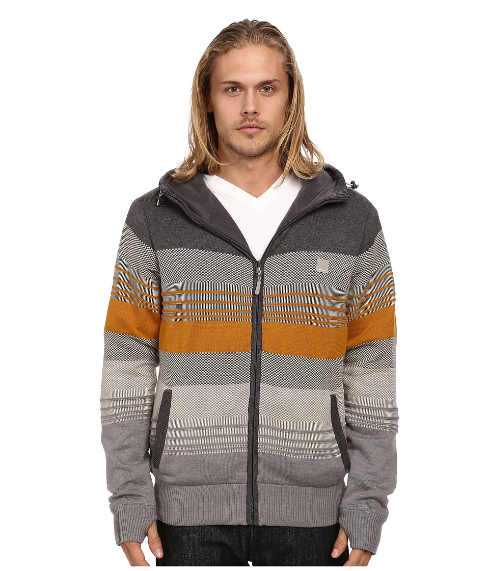 Bench - Declivity Zip Thru Hoodie (Anthracite Marl) Men's Sweater