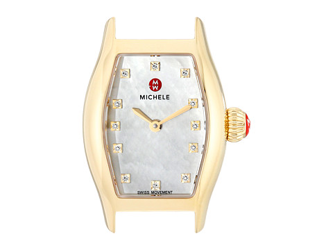 Michele - Urban Coquette Diamond Dial Gold Watch Head (Gold) Watches