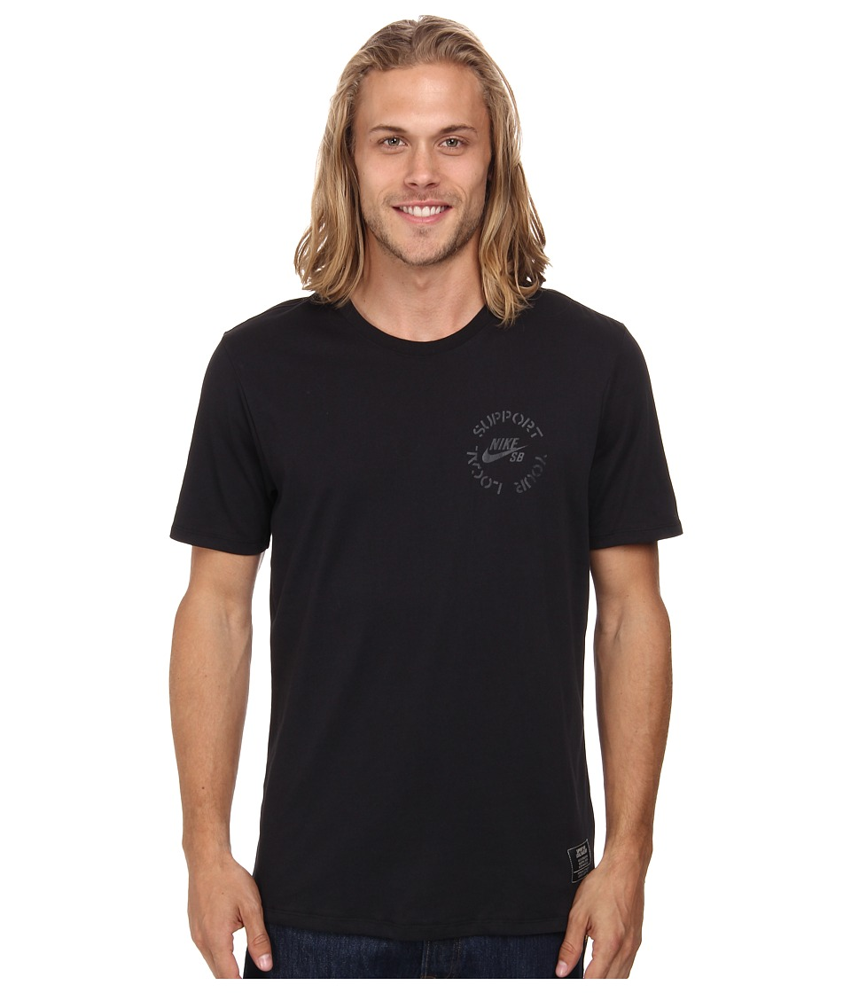 Nike SB - SB Dri-FIT Syl Tee (Black/Black/Black) Men's T Shirt